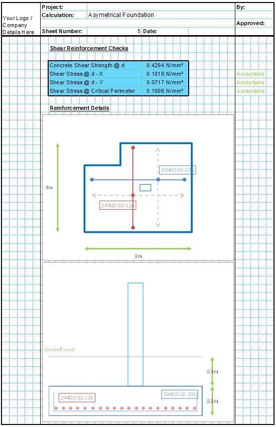 Asymmetrical Foundation Design Spreadsheets - CivilWeb