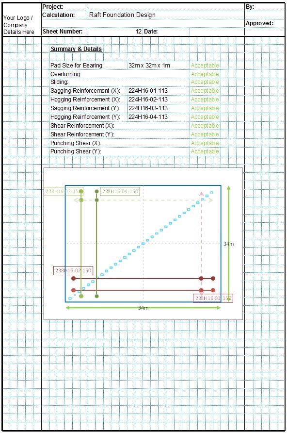 Mat Foundation Design Spreadsheets - CivilWeb Spreadsheets
